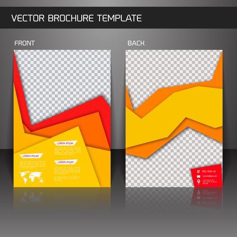 Modelo de folheto panfleto vetor