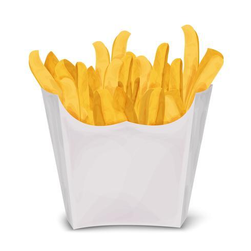 Pommes frites isolerad vektor