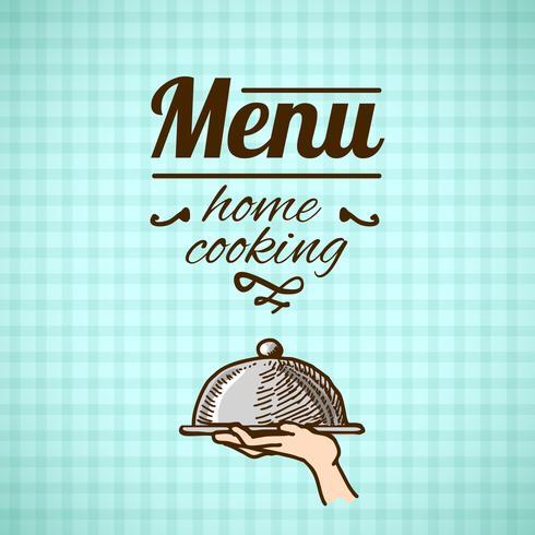 Esboço de design de menu de restaurante vetor