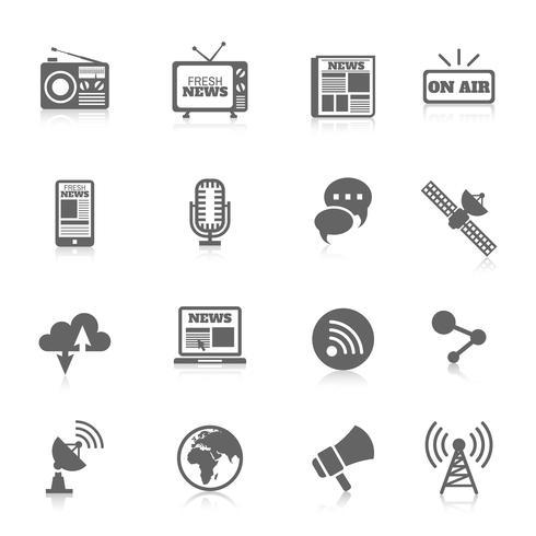Iconos de medios vector