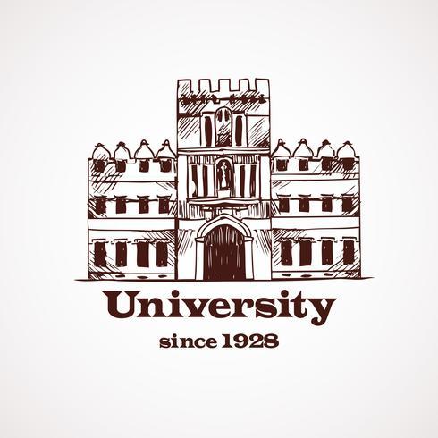 Edificio per schizzo universitario