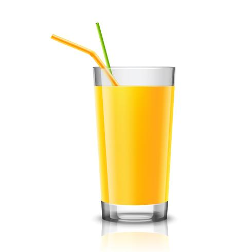 Orange juice glass