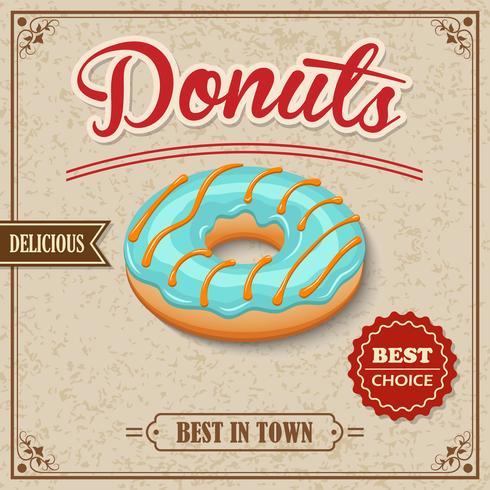 Donut Retro Poster vektor