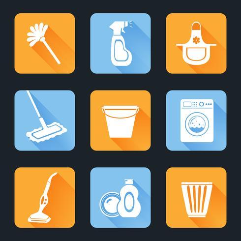 Reinigungs-Icon-Set