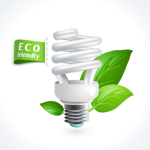 Lâmpada símbolo de ecologia vetor
