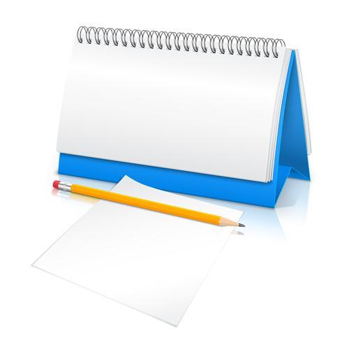 Maqueta calendario de escritorio vector