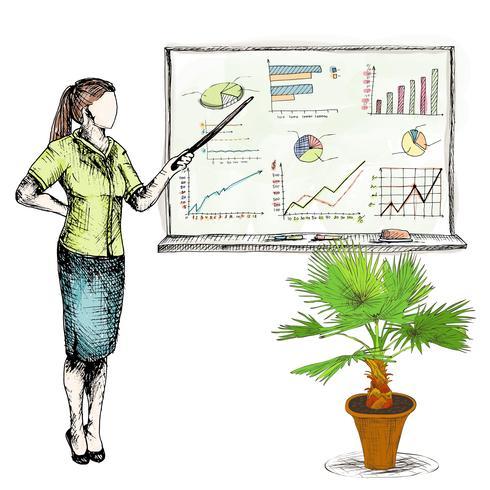 Gráficos de desenho de negócios