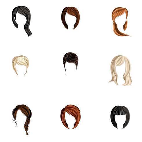 Tjej hårstil uppsättning