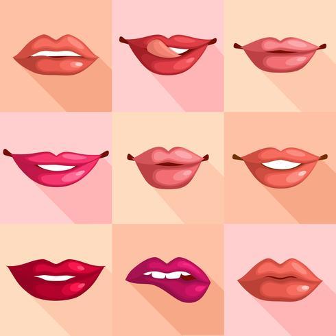 Ensemble de lèvres