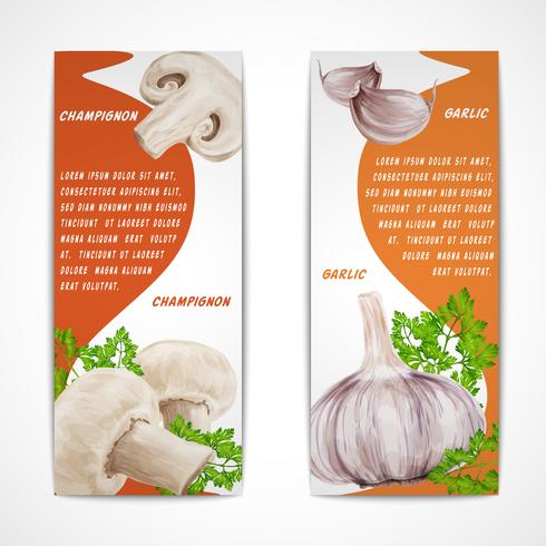 Knoflook champignon banners