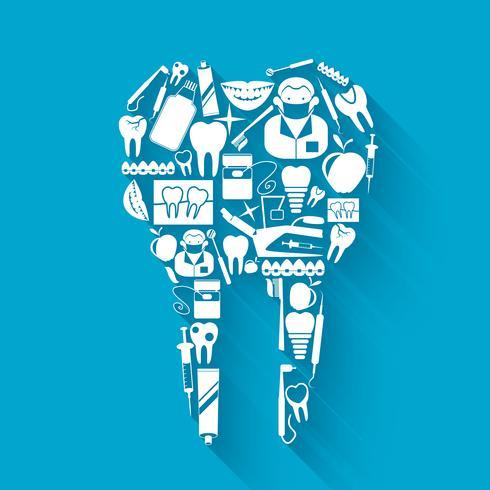Concetto di stomatologia del dente vettore