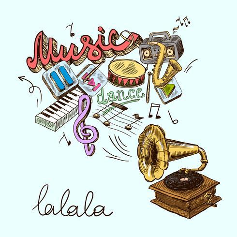 composición de gramófono