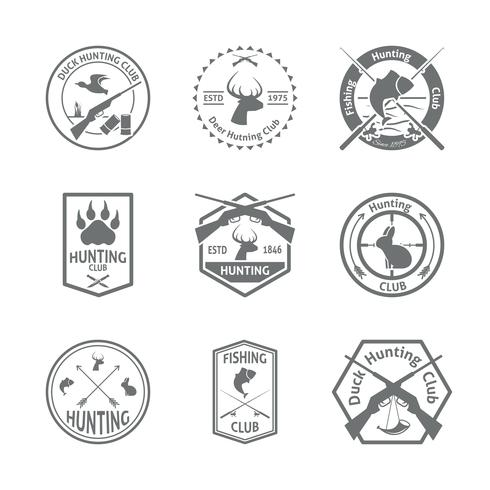 Set van jacht label