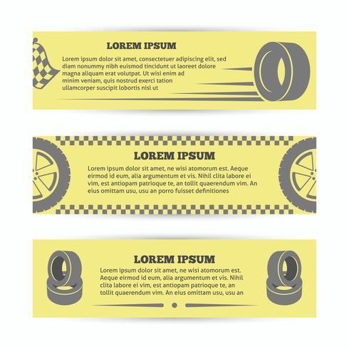 Conjunto de bandeiras de pneu