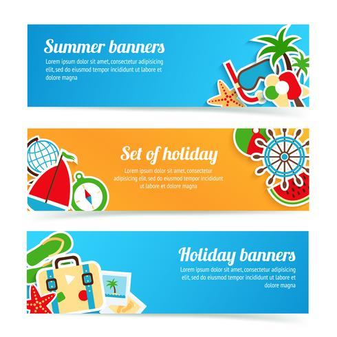 semester banners uppsättning vektor