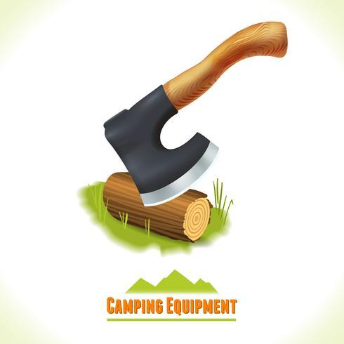 Machado de símbolo de acampamento