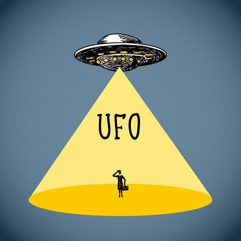 Ufo affisch skiss