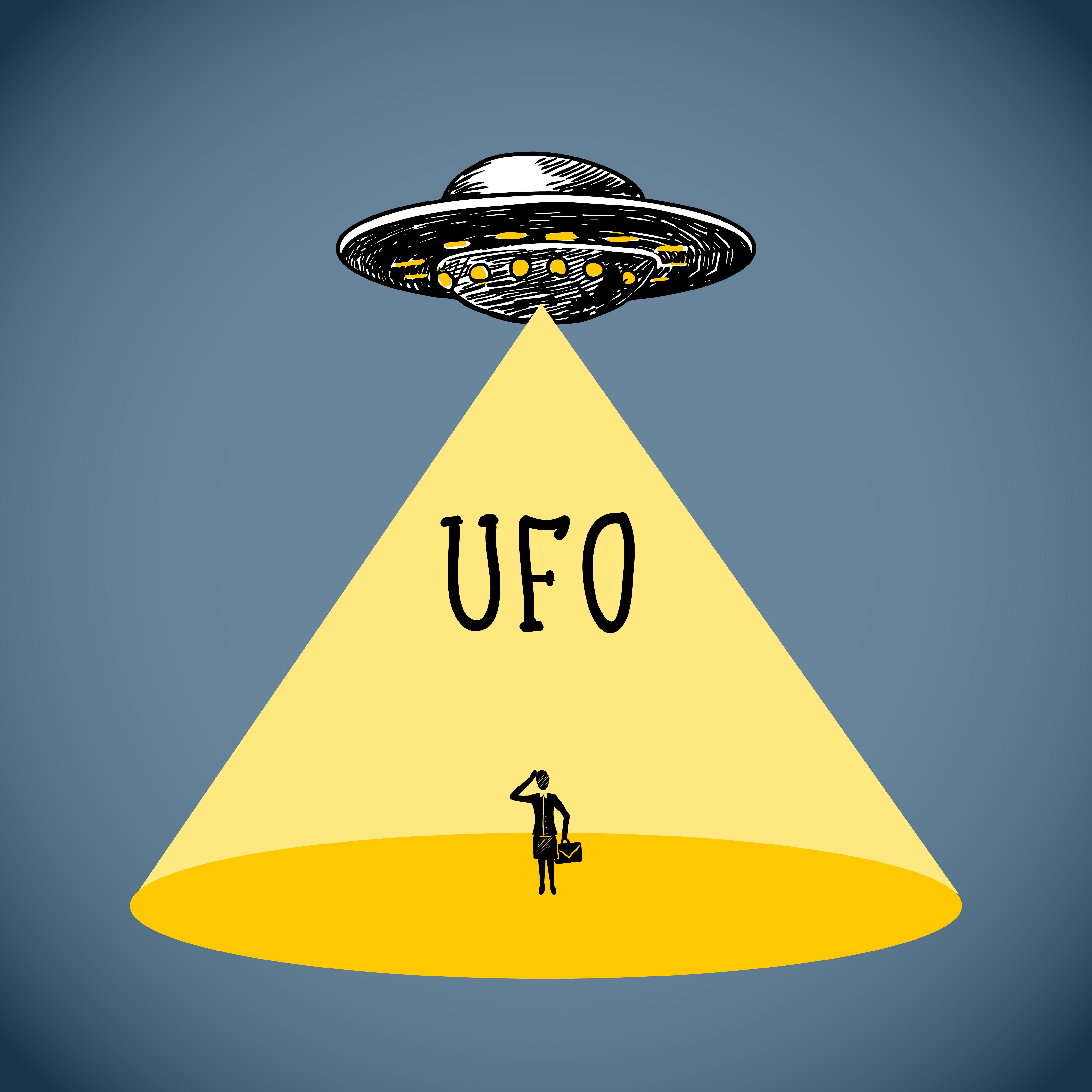 Ufo Poster Sketch 453540 Vector Art At Vecteezy