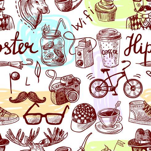 Hipster sem costura vetor