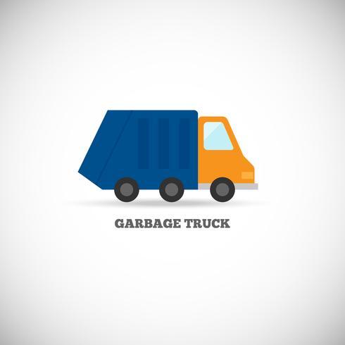 Camion della spazzatura isolato