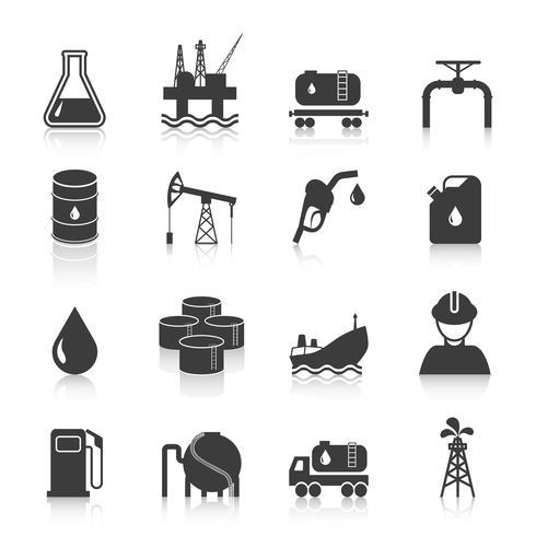 Ícones da indústria de petróleo