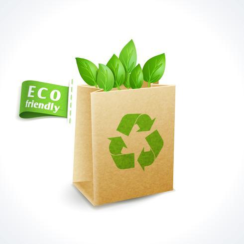 Ekologi symbol papperspåse