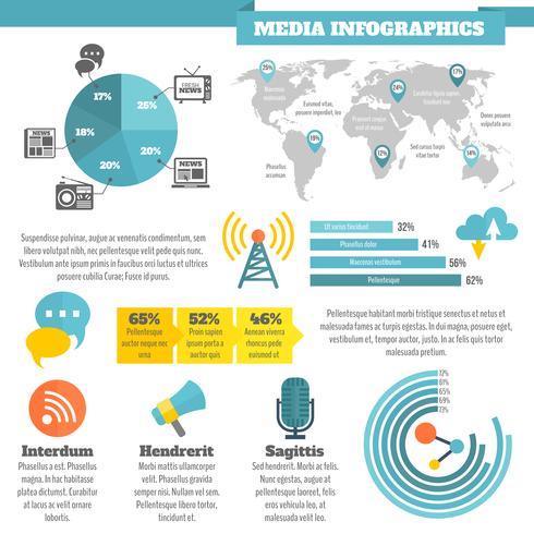 Infografía de los medios vector