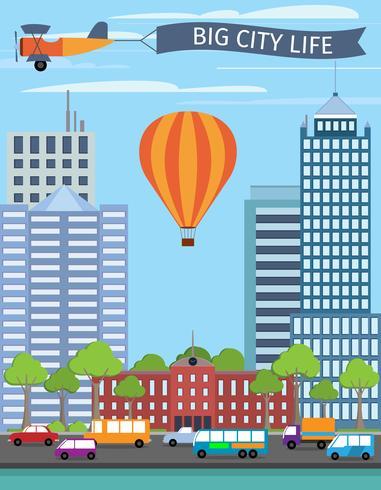 Moderne gebouwen poster vector