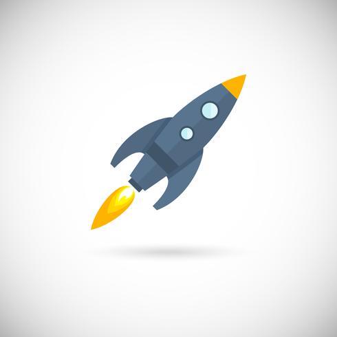 Foguete espacial de ícones de aeronaves