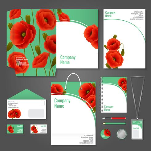 Poppy corporate identity vector