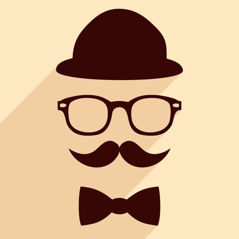 Hipster vintage illustration vector