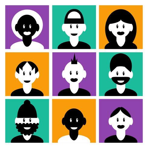 Conjunto de iconos de avatar vector