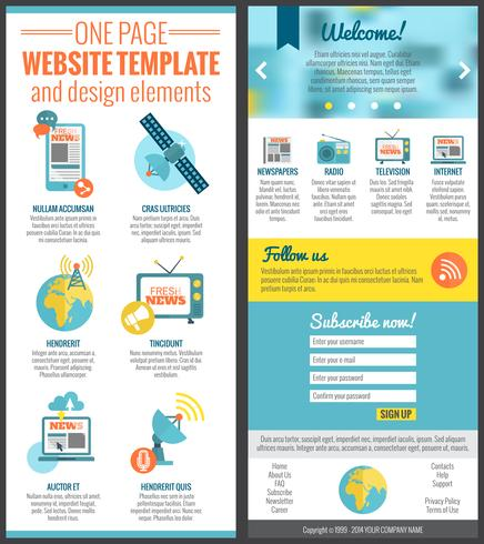 One page web site template