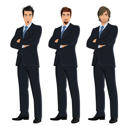 Conjunto de hombres de negocios vector