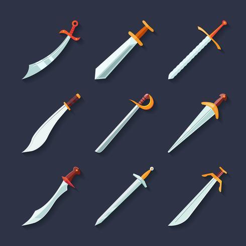 Ícone de espada plana