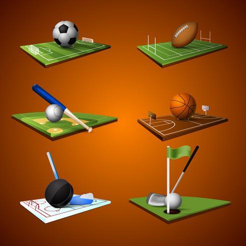 jeu d'icônes sport emblème