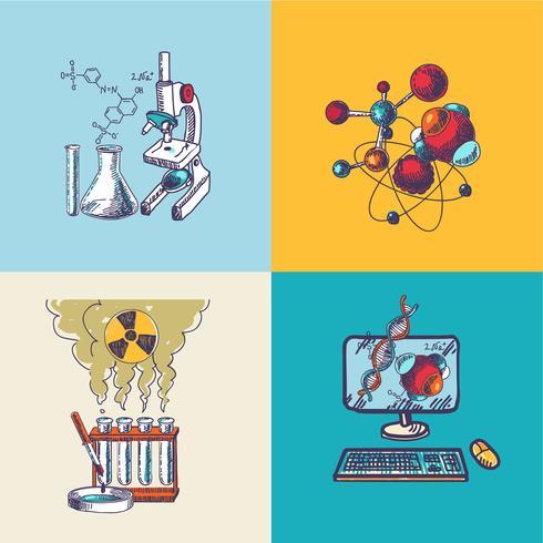 Chemieikone Skizzenzusammensetzung