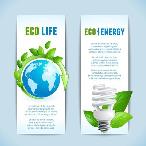 Banners verticais de ecologia