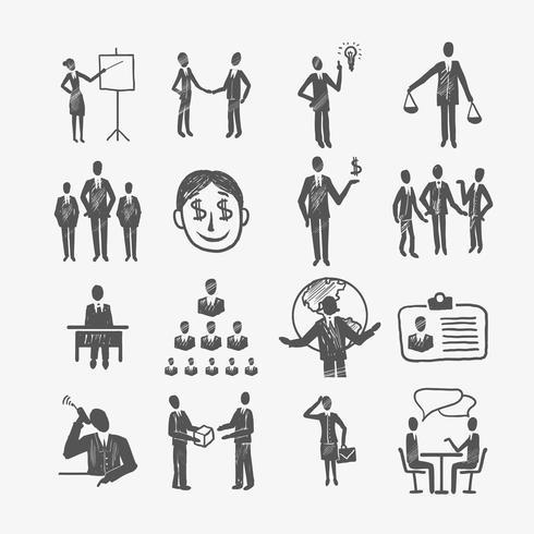 Dibujar empresarios vector
