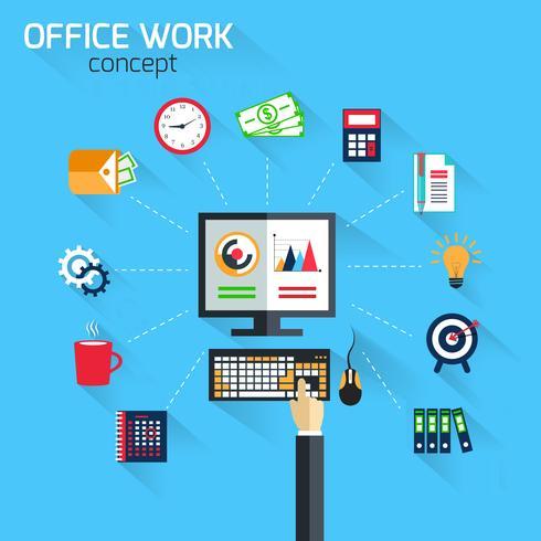Concepto de trabajo de oficina vector