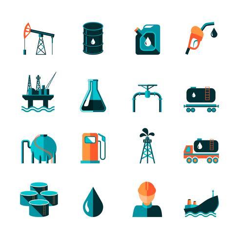 Olie industrie pictogrammen vector