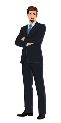 Uomo d'affari isolato su bianco
