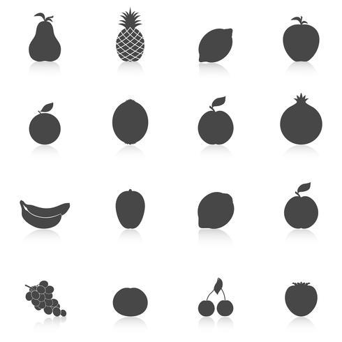 Sats av frukt ikoner vektor
