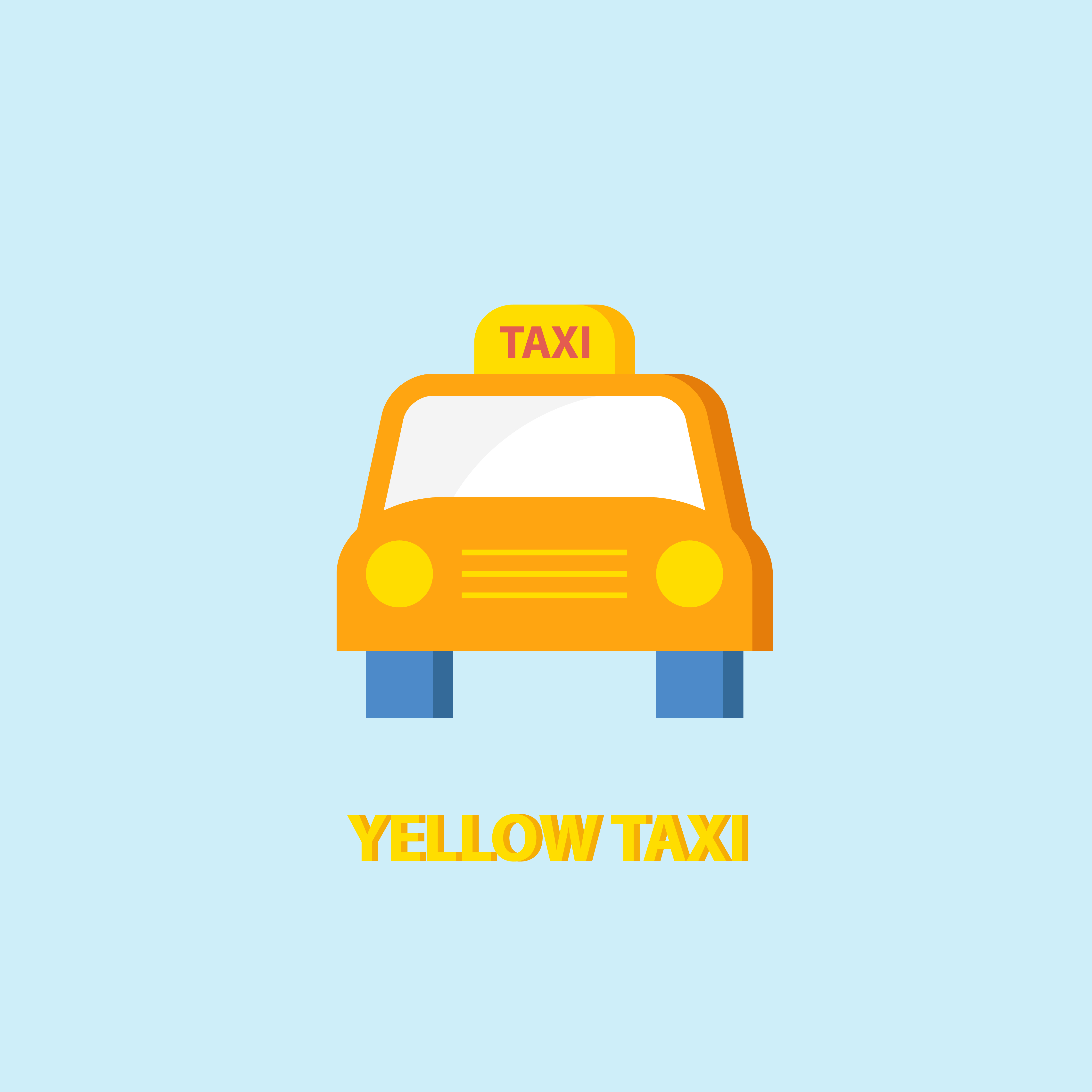 Yellow Taxi Icon Vector Download Free Vector Art Stock