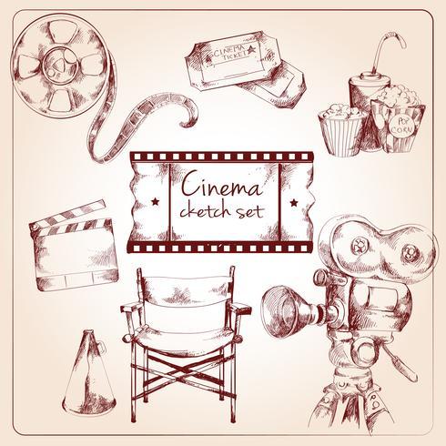 Cinema sketch set