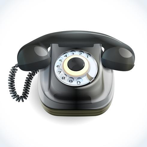 Telefono estilo retro vector