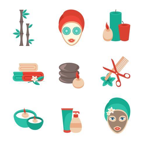 Conjunto de iconos de spa vector