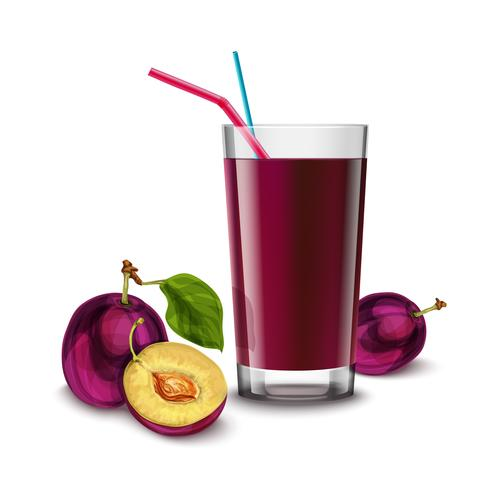 Plum juice glass