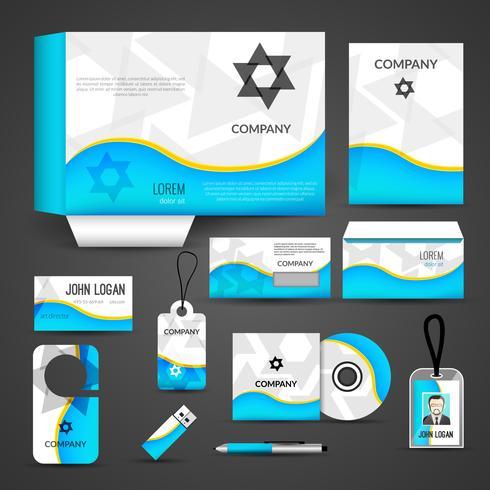 Diseño de identidad corporativa vector