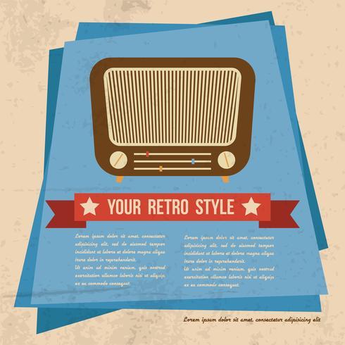 Retro-stijl poster